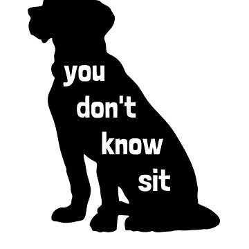 You Don't Know Sit by aj4787
