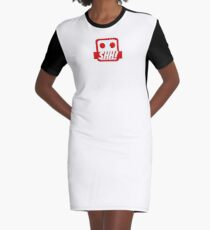Silence Gagged smiley Graphic T-Shirt Dress