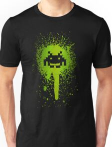 Green Splatter Invader T-shirt