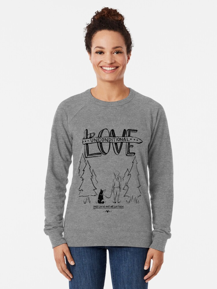 Alternate view of Dog Lovers With Style Lightweight Sweatshirt