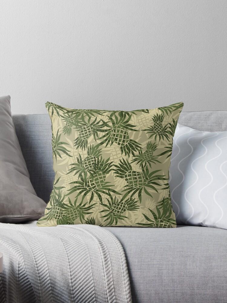 682c3ab4 Pineapple Camo Hawaiian Aloha Shirt Print - Olive & Khaki