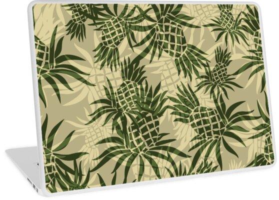 8d89a217 Pineapple Camo Hawaiian Aloha Shirt Print - Olive & Khaki