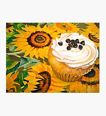 Cupcakes and Sunflowers... Photographic Print