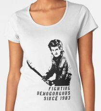 Steve Fighting (Stranger Things) Women's Premium T-Shirt
