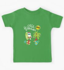 Hawaiian Christmas. Santa Claus. Mele Kalikimaka Kids Clothes