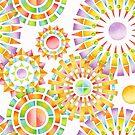 Rainbow Sunbursts by PatriciaSheaArt