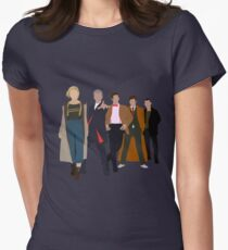 Doctor Who - All Five Modern Doctors - New Costume! (DW Inspired) Women's Fitted T-Shirt