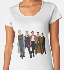 Doctor Who - All Five Modern Doctors - New Costume! (DW Inspired) Women's Premium T-Shirt