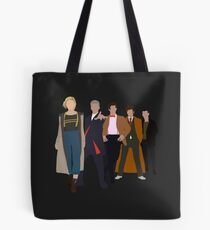Doctor Who - All Five Modern Doctors - New Costume! (DW Inspired) Tote Bag