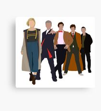 Doctor Who - All Five Modern Doctors - New Costume! (DW Inspired) Canvas Print