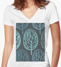 blue forest Women's Fitted V-Neck T-Shirt