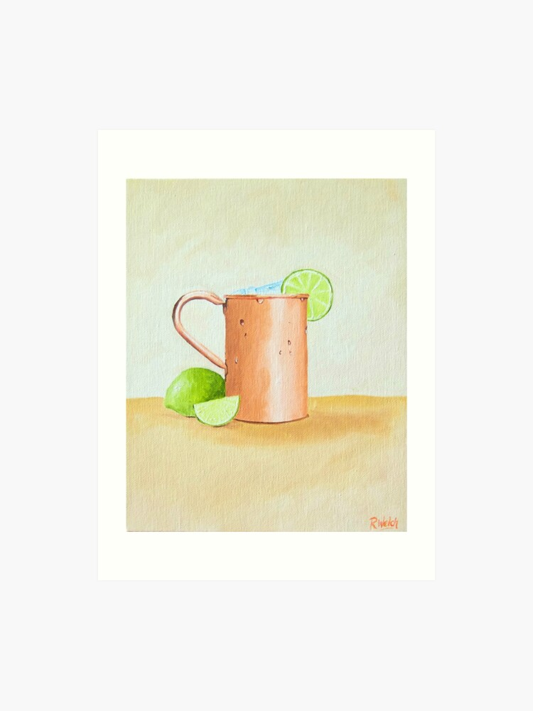 picture regarding Moscow Mule Recipe Printable identified as Moscow Mule Cocktail Portray Artwork Print