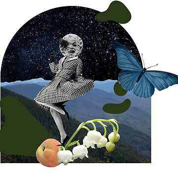 Vintage Space Butterfly Plant Collage by 53JSams