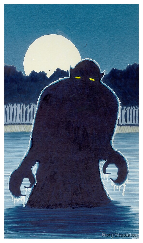 Cover for MIDNIGHT MONSTER (acrylic gouache on c/press ill brd) by Rory Stapleton
