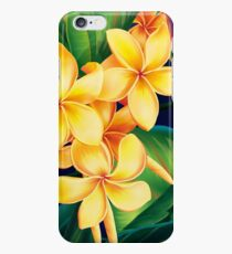Tropical Paradise Hawaiian Plumeria Illustration iPhone 6 Case