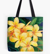 Tropical Paradise Hawaiian Plumeria Illustration Tote Bag