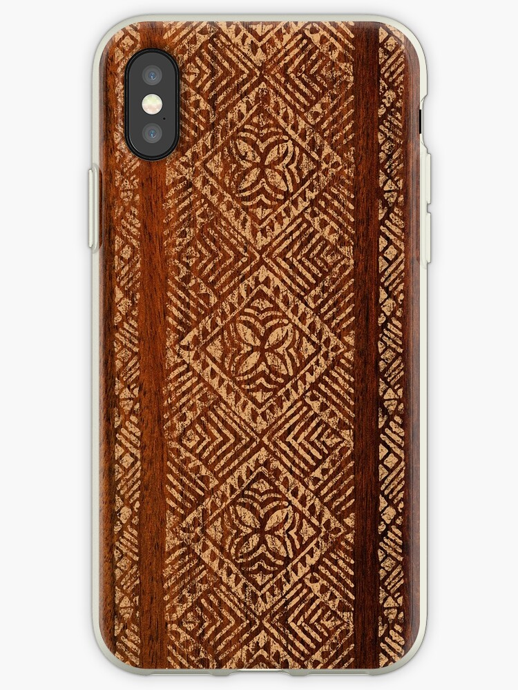the best attitude 8eac2 62824 'Samoan Tapa Faux Koa Wood Hawaiian Surfboard ' iPhone Case by  DriveIndustries