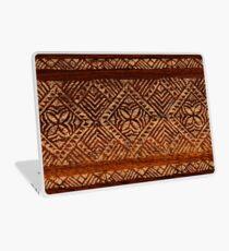 Samoan Tapa Faux Koa Wood Hawaiian Surfboard  Laptop Skin