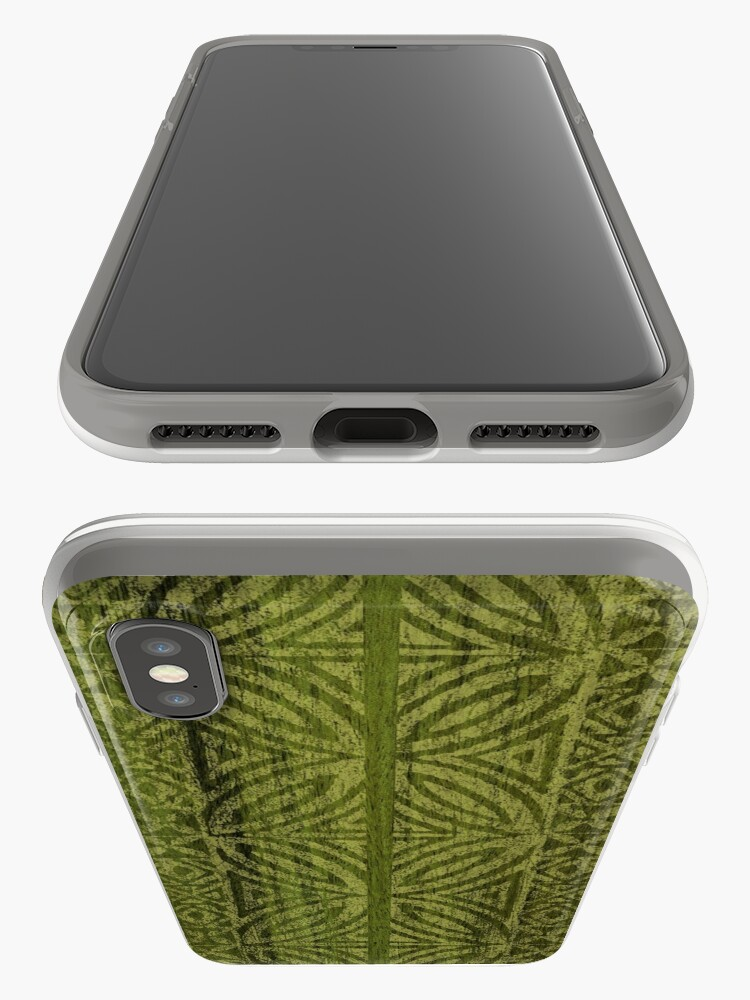 Alternate view of Samoan Tapa Olive Faux Koa Wood Hawaiian Surfboard  iPhone Cases & Covers
