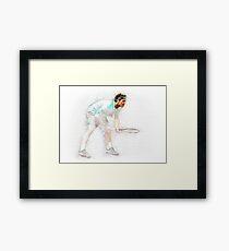 Roger Federer drawing digital art Framed Print