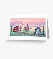 Sugar Frost Valley Greeting Card