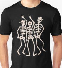 Dancing Skeleton Skull Men - Goth Punk Ska Weirdos T-Shirt