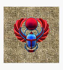 Colorful Egyptian Scarab Photographic Print