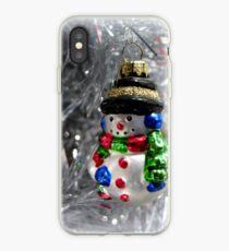 Schneemann Ornament Weihnachtskarte iPhone-Hülle & Cover