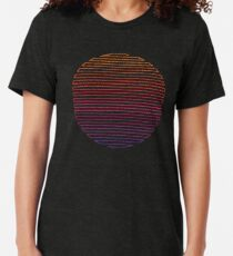 Lineares Licht Vintage T-Shirt