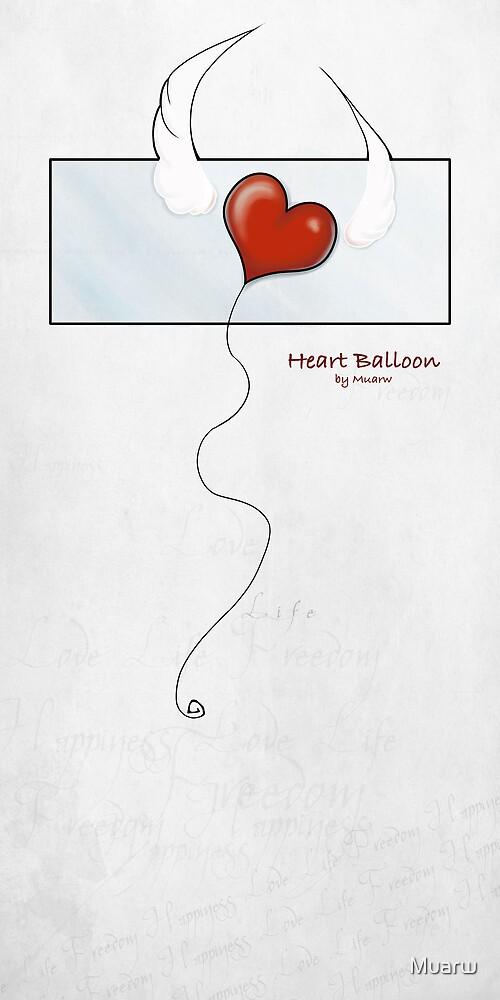 Heart Balloon by Muarw