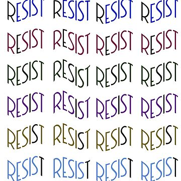 RESIST - Multicolored, Repeating Warped Font by TheCurators