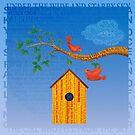 Literary Birdhouse by PegOHagan