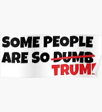 some people are so dumb - trump Poster
