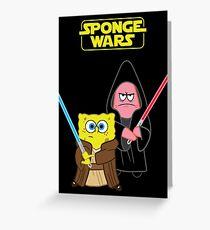 Sponge Wars Greeting Card