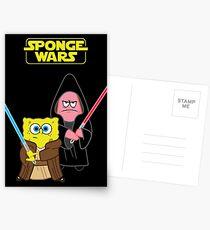 Sponge Wars Postcards