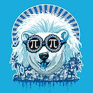 Pi Polar Bear Wearing Pi Day Shades by MudgeStudios