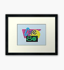 Back To The Cafe 80's Framed Print