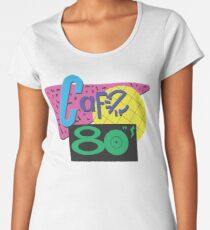 Back To The Cafe 80's Women's Premium T-Shirt