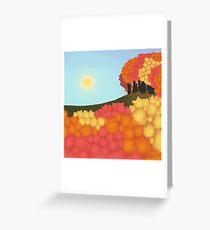 Digital [Simplistic] Painting: Autumn Trees Greeting Card