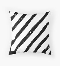 Off White Grunge Throw Pillow