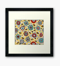 Bees & Blooms Framed Print