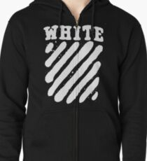 Off White Grunge Zipped Hoodie