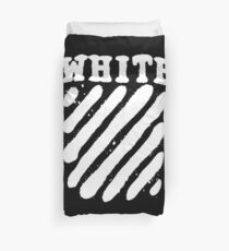 Off White Grunge Duvet Cover
