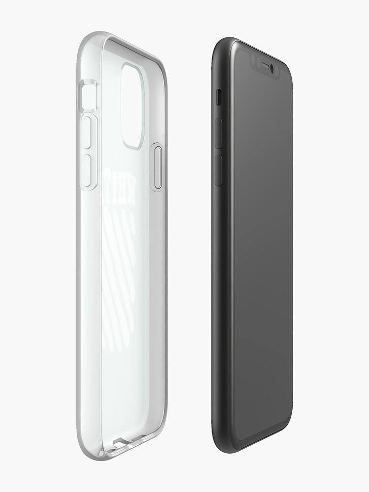 Coque iPhone «Menthe fraîche blanche cassée», par 58mm