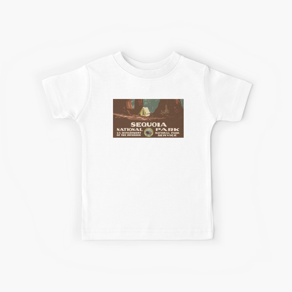 Sequoia National Park Vintage Kids T-Shirt