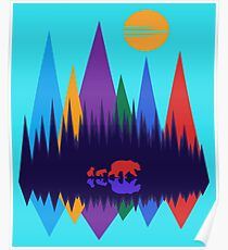 Bear & Her Cubs Poster