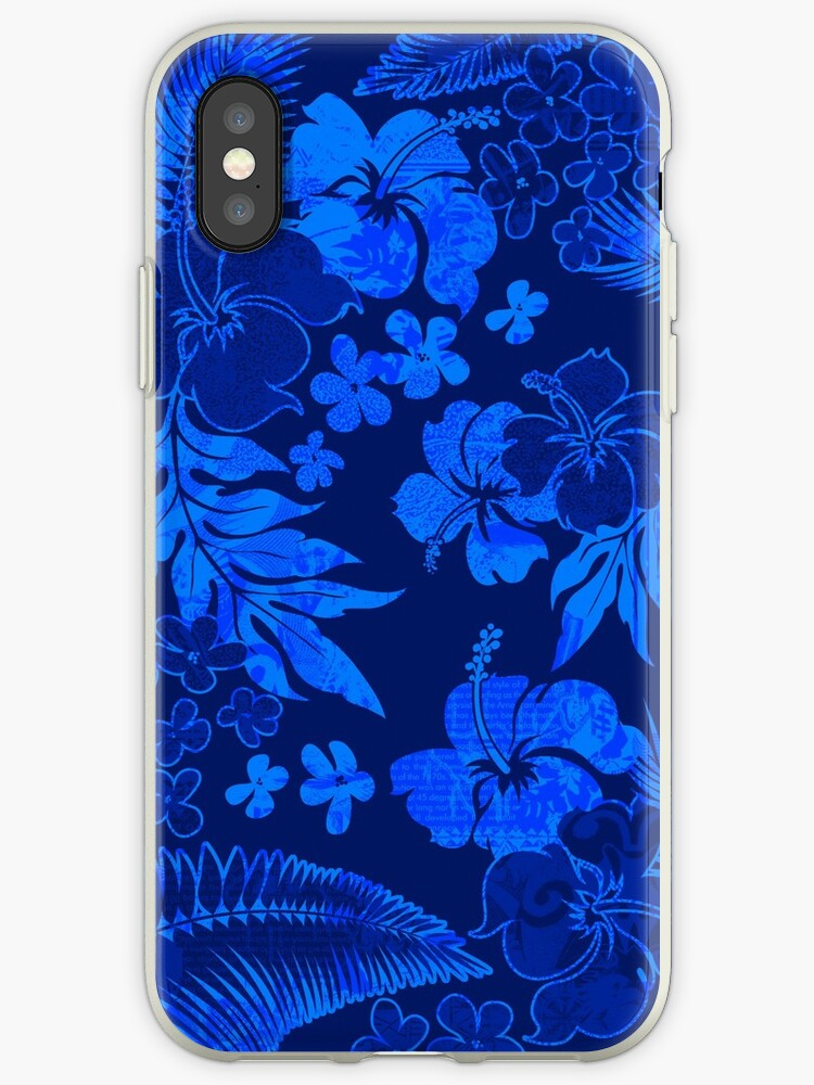 Kona Times Hibiscus Hawaiian Print - Royal by DriveIndustries