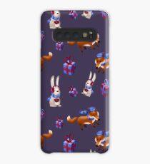 Fuchs und Hase feiern Weihnachten Hülle & Klebefolie für Samsung Galaxy