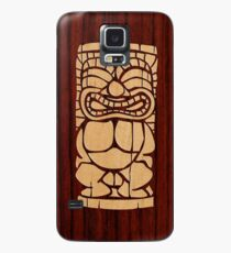 Tiki Ailani Faux Koa Wood Hawaiian Surfboard  Case/Skin for Samsung Galaxy