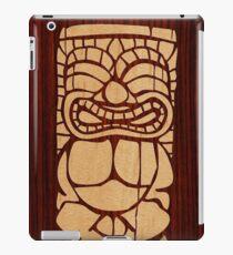 Tiki Ailani Faux Koa Wood Hawaiian Surfboard  iPad Case/Skin